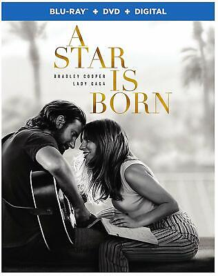 A Star Is Born (Blu-ray/DVD + Digital, 2019) with Slipcover
