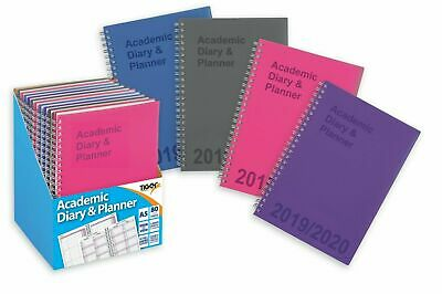Academic diary 2019-2020 Student Planner twin wire A5 week to view diary