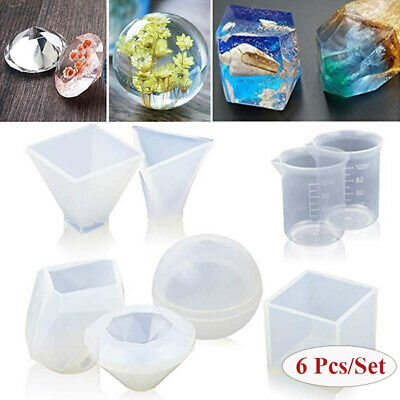 1Set Resin Casting Molds DIY Silicone Molds for Epoxy Resin with Measurement Cup