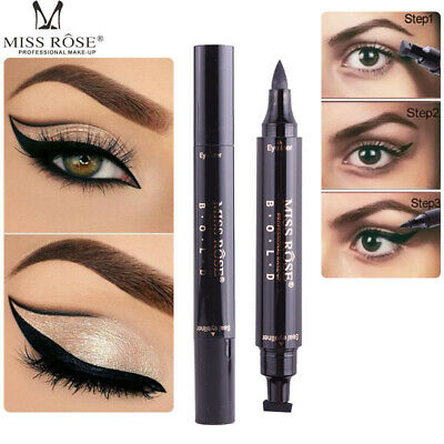 Women Eyeliner Pencil Black Liquid Thin/Thick Stamp Eye Liner Makeup Waterproof