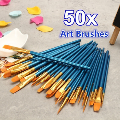 50Pcs/set Artist Painting Brushes Watercolor Acrylic Oil Craft Kit Painting Tool