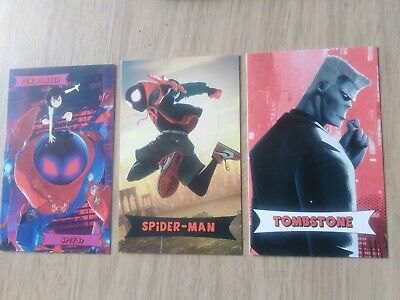 SPIDERMAN  The Spider-verse ODEON Collectable Cards x 3. freepost