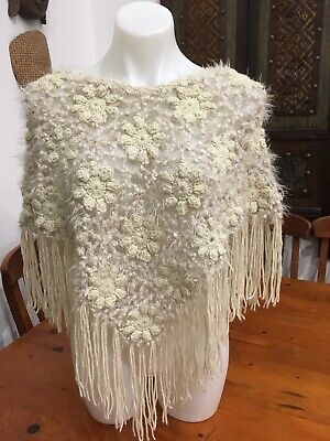 Crochet Poncho In Awesome Condition