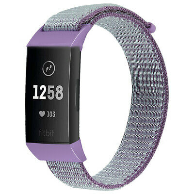 Watchbands For Fitbit Charge 3 Nylon Loop Sport Wristband Woven Fabric Belt