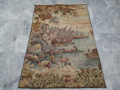 5034 - Old French / Belgium Tapestry Wall Hanging - 140 x 92 cm