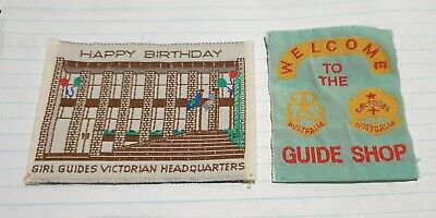 Vintage Girl Guides patches Happy Birthday Guide shop