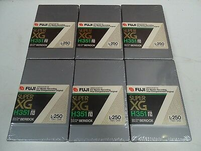 6 x Brand New Sealed Fuji Super XG Beridox L-250 BETAMAX Video Cassette Tapes