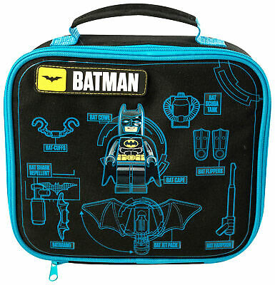New Official Batman Lego Movie Boys Nursery School Lunch Insulated Bag