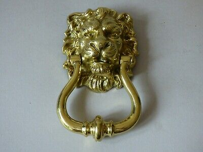 Collectable Architectural Lions Head Solid Brass Door Knocker Free Uk P+P