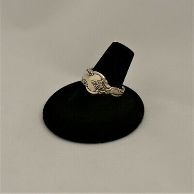 Vintage Antique, International Deep Silver Size 7.5 Spoon-Handle Ring    A-752