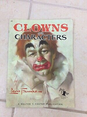 VTG Clowns And Characters Leon Franks Drawing Painting Instruction Book Magazine