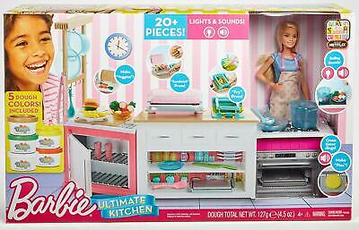 Barbie FRH73 Careers Ultimate Kitchen with Doll Playdough