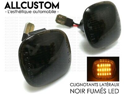 2 REPETIDORES LATERALES INTERMITENTES NEGRO LED para SKODA ROOMSTER II 2010-2015
