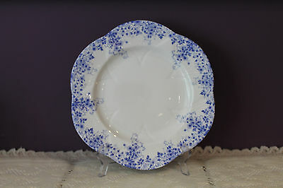 "Shelley Bone China England Dainty Blue 10-3/4"" Dinner Plate"