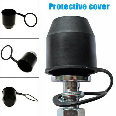 1X PVC Black Tow Bar Ball Towball Cover Cap Towing Hitch Trailer Protection ZX