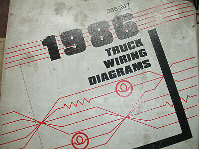 1986 Ford ECONOLINE VAN Electrical Wiring Diagrams Service Schematic Manual OEM
