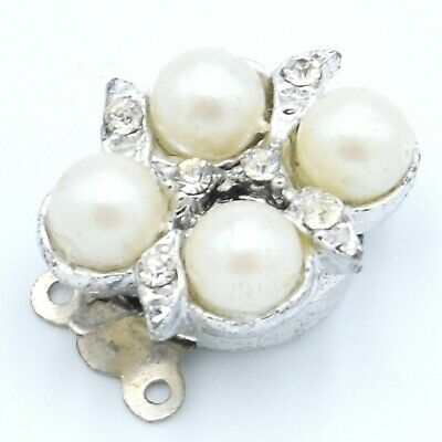 X Large Sterling Silver Bamboo Textured Pearl Enhancer Shortener 24x31mm #97701