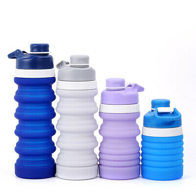Portable Sport 500ml Collapsible Foldable Reusable Water Bottles Ice Bag Outdoor