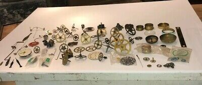 Vintage lot of miscellaneous clock parts and items