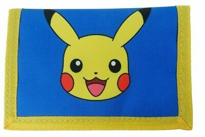 Official Pokemon Pikachu Boys Trifold Money Change Notes Wallet Gift New