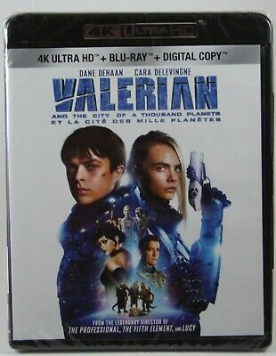 Valerian and the City of a Thousand Planets 4K Ultra HD Blu-ray Digital NEW!!