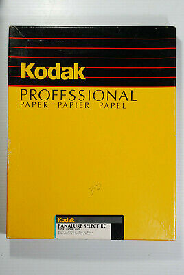 Vtg. 30 Sheets KODAK PANALURE SELECT RC Med. Wght. Glossy Paper Expired AS IS