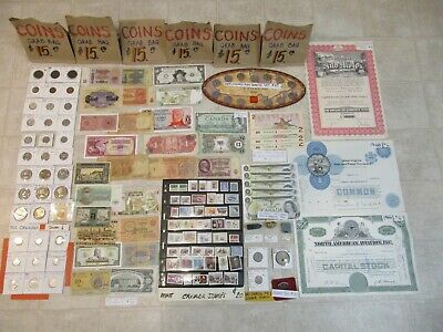 Lot Canadian And World Coins Silver Bank Of Canada Bills Paper Money Mail $16.99