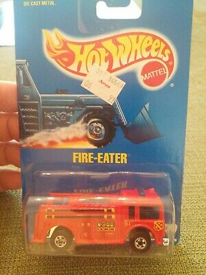 1991 Hot Wheels Fire-Eater Red 82 Blue Card