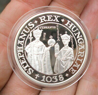 Hungary 1988 Silver (.900) 500 Forint 950th Ann / of Death of King St. Stephen