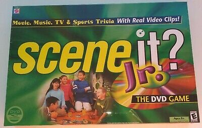 Scene It? Jr. The DVD Game NEW Ages 8+ Movie Music TV Sports Boardgame Trivia