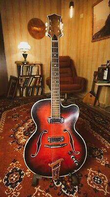 Musima 1655 Electric Guitar Soviet GDR USSR Hollow Body Archtop