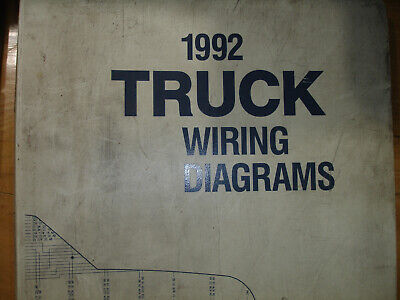 1992 Ford F600 F700 F800 CAB Truck Electrical Wiring Diagrams Schematic Manual