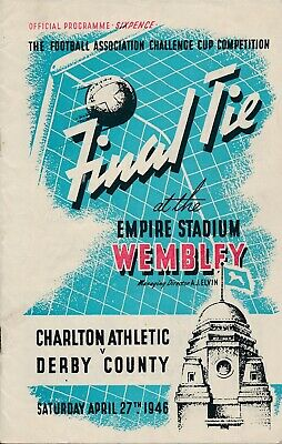 FA CUP FINAL PROGRAMME 1946 Charlton Athletic v Derby County