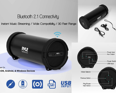 Portable Wireless Bluetooth Speaker Boombox Bass Stereo FM Radio AUX Rechargeabl