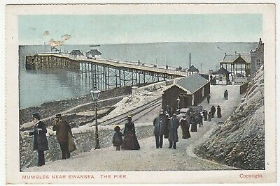 Glamorgan; Mumbles, Nr Swansea, The Pier PPC By DG&D, Unposted, c 1910's