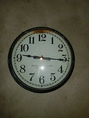 Antique Mid-Century Standard Electric Time Co. Clock- (not working)