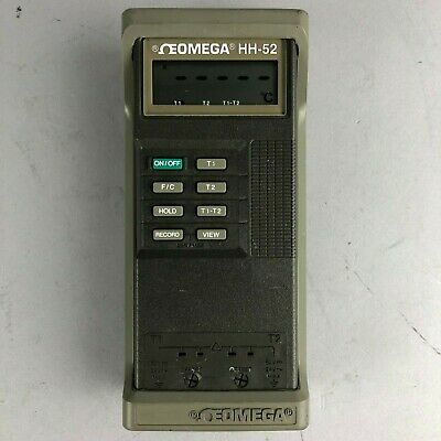 Omega HH-52 Handheld Digital Thermometer - TESTED -