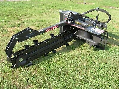 """Bradco 625 Skid Steer Trencher Dig 48"""" x 6"""" Two Position Digging - Ship $199"""