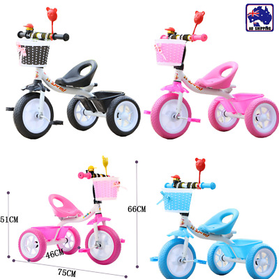 3 Wheel Bike Bicycle Tricycle Trike Basket Kids Children Toddler Toy BTR0020