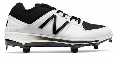 New Balance Low-Cut 3000v3 Metal Baseball Cleat Mens Shoes White with Black Size