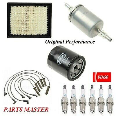 Tune Up Kit Air Cabin Oil Fuel Filters Wire Spark Plugs for CHEVROLET MONTE CARLO V6 3.4L 2000-2005