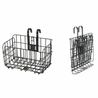 Metal Folding Bicycle Wired Basket Steel Shopping Cage Cycling Bike Fitting New