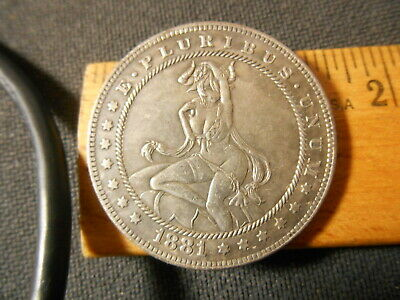 Semi Nude Devil Woman with Horns Hobo Nickel Style Fantasy Coin