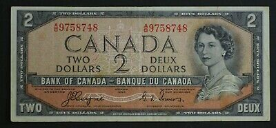 Canada $2 Note Coyne/Towers VF