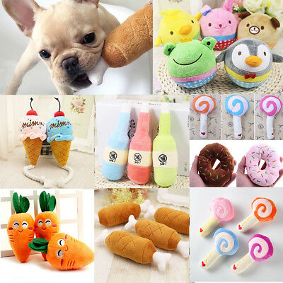 For Dog Chew Squeaker Squeaky Sound Toy Play Funny Pet Puppy Cute Plush Toys