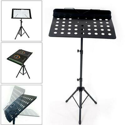 Height Adjustable Folding Music Orchestral Book Holder Tripod Stand