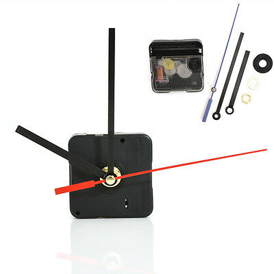 Hands Quartz Wall Silent Clock Movement Mechanism Black Red Repair Parts Tool