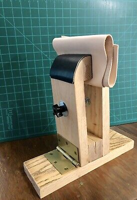 Small Hand Stitching Pony Made Of Hardwood Oak Leather Craft Lacing Sewing