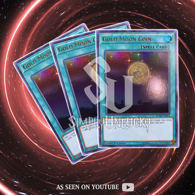 Gold Moon Coin x3 - BLHR-EN003 - Ultra Rare - 1st Edition | YuGiOh
