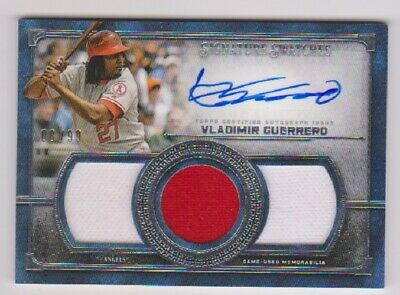 Vladimir Guerrero Auto & Jersey card #08/99 2019 Topps Museum Collection Angels.